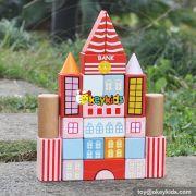 wholesale new design 25 pieces children wooden toy blocks educational kids wooden toy blocks best wooden toy blocks W13A124