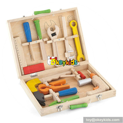 Wholesale diy creative kids wooden tools box toy most popular baby wooden tools box toy W03D018