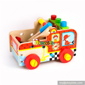 Wholesale best gift wooden kids tools box toy wonderful baby wooden tools box toy bring fun W03D082
