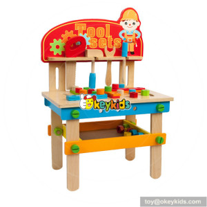 Wholesale fashionable kids wooden tools bench toy interesting diy wooden tools bench toy W03D083