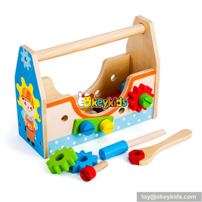 Wholesale early learning children wooden tools kit toy funny kids wooden tools kit toy W03D084