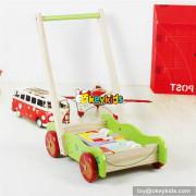 wholesale educational wooden baby activity walker funny toys wooden baby activity walker with building blocks W16E076