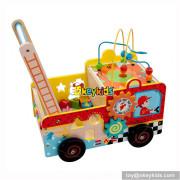 Wholesale baby educational wooden multi-function walker W16E077