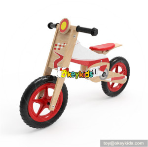 Wholesale new product kids wooden bike walker best selling child wooden balance bike walker W16C182