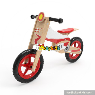 Wholesale new product kids wooden bike walker best selling child wooden balance bike walker W16C182