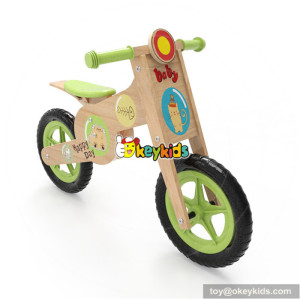 Okeykids kids wooden cartoon balance bike for preschoolers W16C183