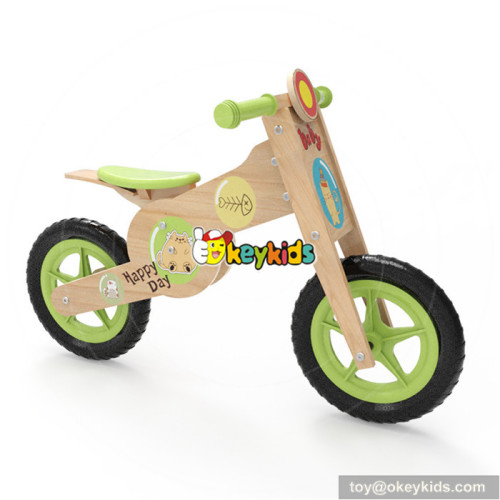 Okeykids kids wooden cartoon balance bike for preschoolers W16C183