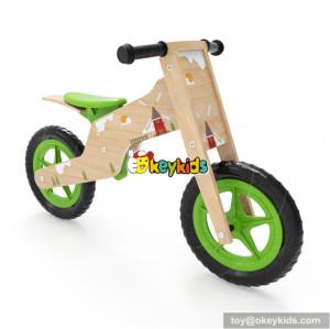 Wholesale best selling children wooden green balance bike useful kids wooden green balance bike W16C184