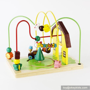 wholesale best kids wooden toy bead maze educational games toddlers wooden toy bead maze W11B141