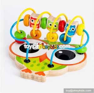 Wholesale most popular kids wooden beads maze toy owl shape baby wooden beads maze toy W11B144