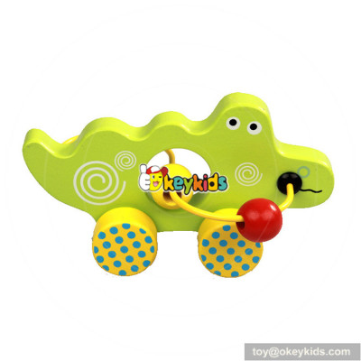 wholesale cheap educational bead maze toy cars wooden baby toys W11B147