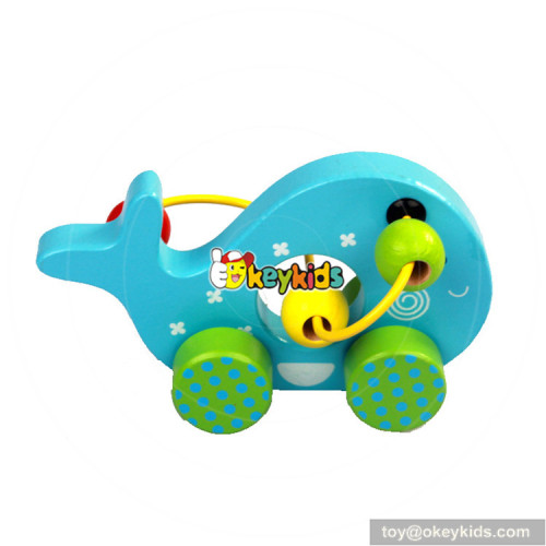 wholesale cheap bead maze toy cars wooden toddler educational toys W11B150