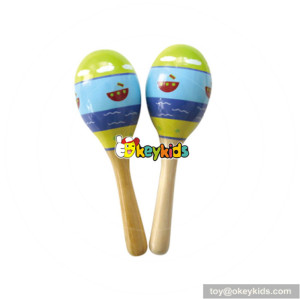 Wholesale cheap toddlers mini wooden shaker instrument high quality kids percussion set for sale W07I060