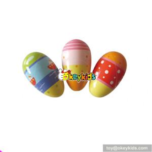 Wholesale musical instrument colourful wooden egg shaker customize mini wooden egg shaker for kids W07I076