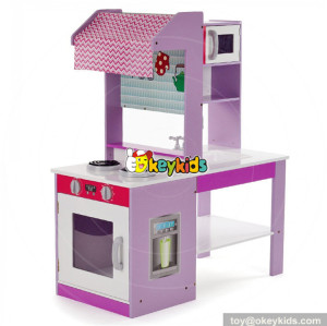 wholesale new double-sided pretend play wooden kids play kitchen set W10C274