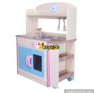 wholesale new fashion wooden children kitchen set for sale educational toys wooden baby kitchen set W10C275