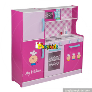 wholesale new fashion pink girls toys wooden girls play kitchen W10C276