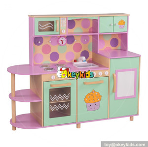 wholesale best sale children pretend play kitchen wooden kids cooking toys W10C283