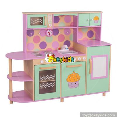wholesale best sale children pretend play kitchen wooden kids cooking toys W10C283