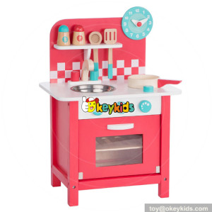 wholesale high quality kids play kitchen set wooden pretend play toys for children W10C285