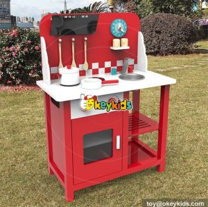 wholesale new fashion play kitchen set boys wooden pretend kitchen set for sale W10C291