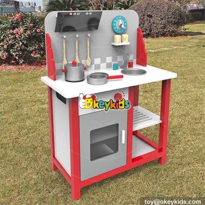 wholesale hot sale children pretend play wooden toy kitchen set new style baby wooden toy kitchen set W10C292