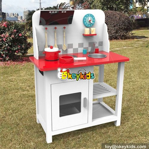 wholesale high quality children pretend play wooden toy kitchen most popular wooden toy kitchen for boys W10C294