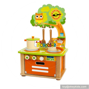 Wholesale lovely style wooden children kitchen toy funny wooden children kitchen toy W10C315