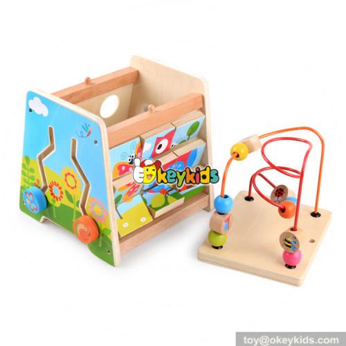 Okeykids best kindergarten wooden activity cube toy for toddler W11B153
