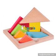 Wholesale new fashion children wooden tangram pieces for sale W11D006