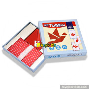 Wholesale intelligence tangram children wooden mind puzzles for kids W11D007