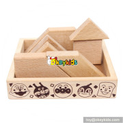 Wholesale intelligent kids wooden tangram game  for sale W11D008