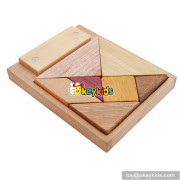 Wholesale most popular wooden children tangram toy help expand kids' imagination W11D009