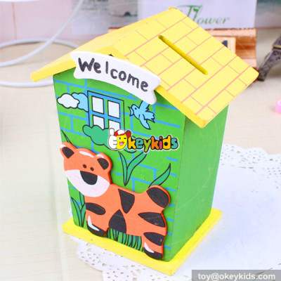 wholesale most popular wooden house piggy bank for sale W02A024