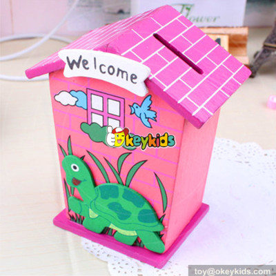 wholesale high quality kids wooden money box for sale W02A025