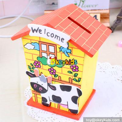 wholesale best sale wooden money saving box for children W02A026