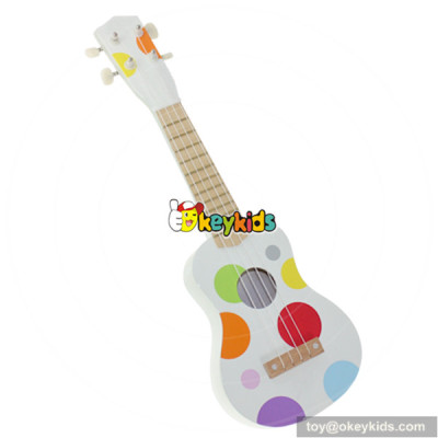 wholesale cartoon wooden guitar toy for children europe style baby wooden toy guitar W07H031