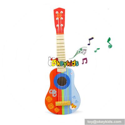 Hottest mini guitar for children music instrument wooden guitar toy W07H033