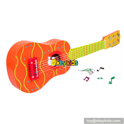 wholesale high quality kids wooden toy guitar cheap children wooden toy guitar W07H036