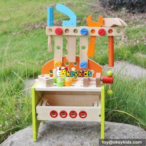 Best design educational assemble kids wooden toy tool set W03D030