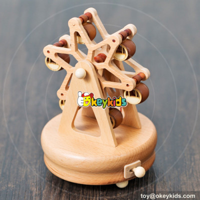 high quality handmade waterwheel wooden music box for kids  W07B038