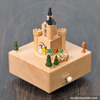 top fashion kids beech wood small music box for sale W07B046