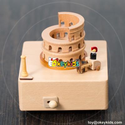 Wholesale best quality children wooden custom music box for sale W07B050