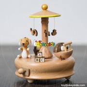 Wholesale cheap cartoon toys children's wooden mini music box W07B051