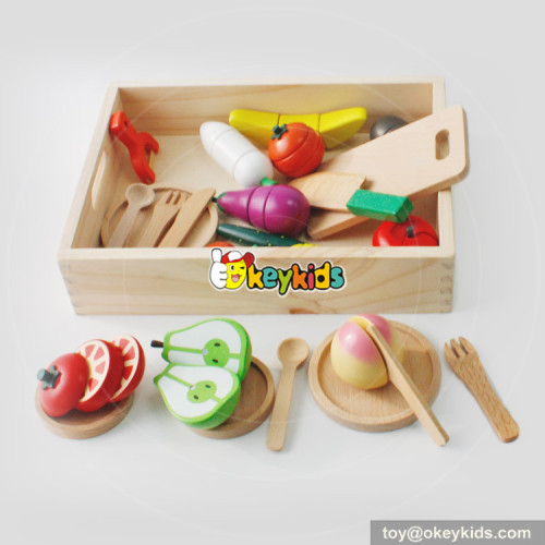 wholesale hot-selling wooden cutting food toy W10B147