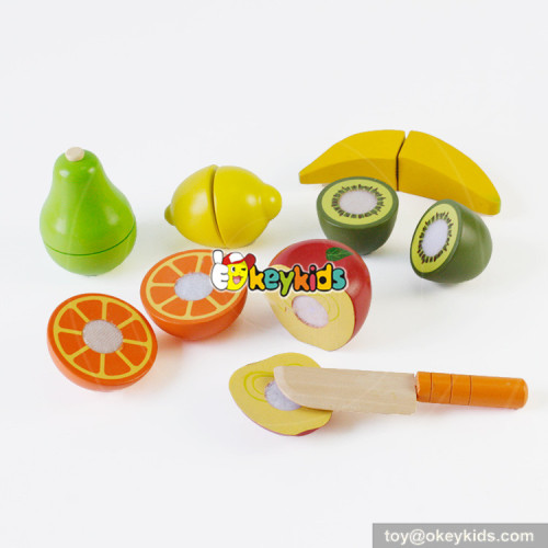 most popular wooden cutting fruits toys for hand skill training W10B193