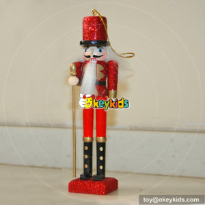 wholesale high quality wooden baby christmas nutcracker soldier for sale W02A007A