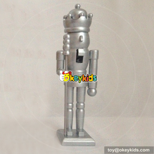Wholesale traditional wooden nutcracker toy for adults as ornament gift W02A073B