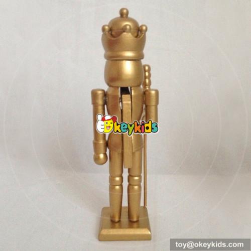 Wholesale european style wooden santa nutcracker toy for home decoration W02A074A