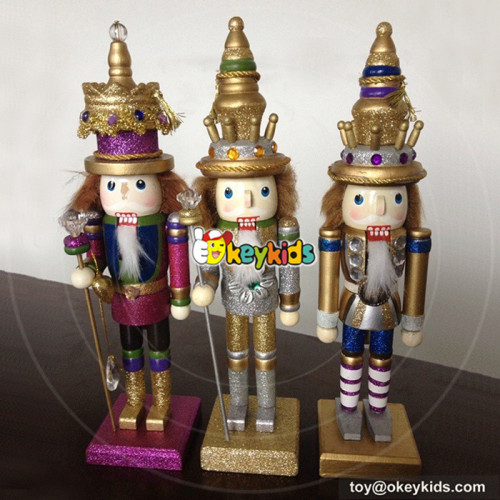 Wholesale top quality wooden kids santa claus nutcracker as holiday gift W02A078